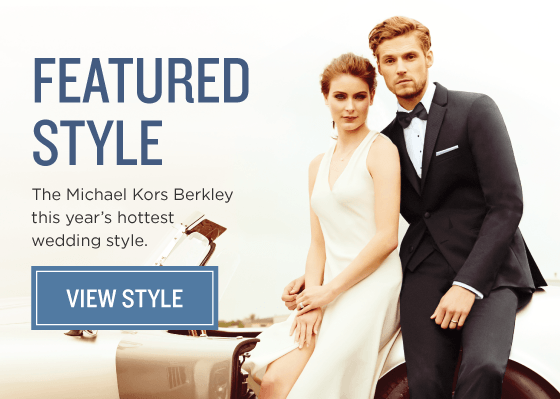 The Michael Kors Berkley Slim Fit Tuxedo. This year's hottest wedding style.