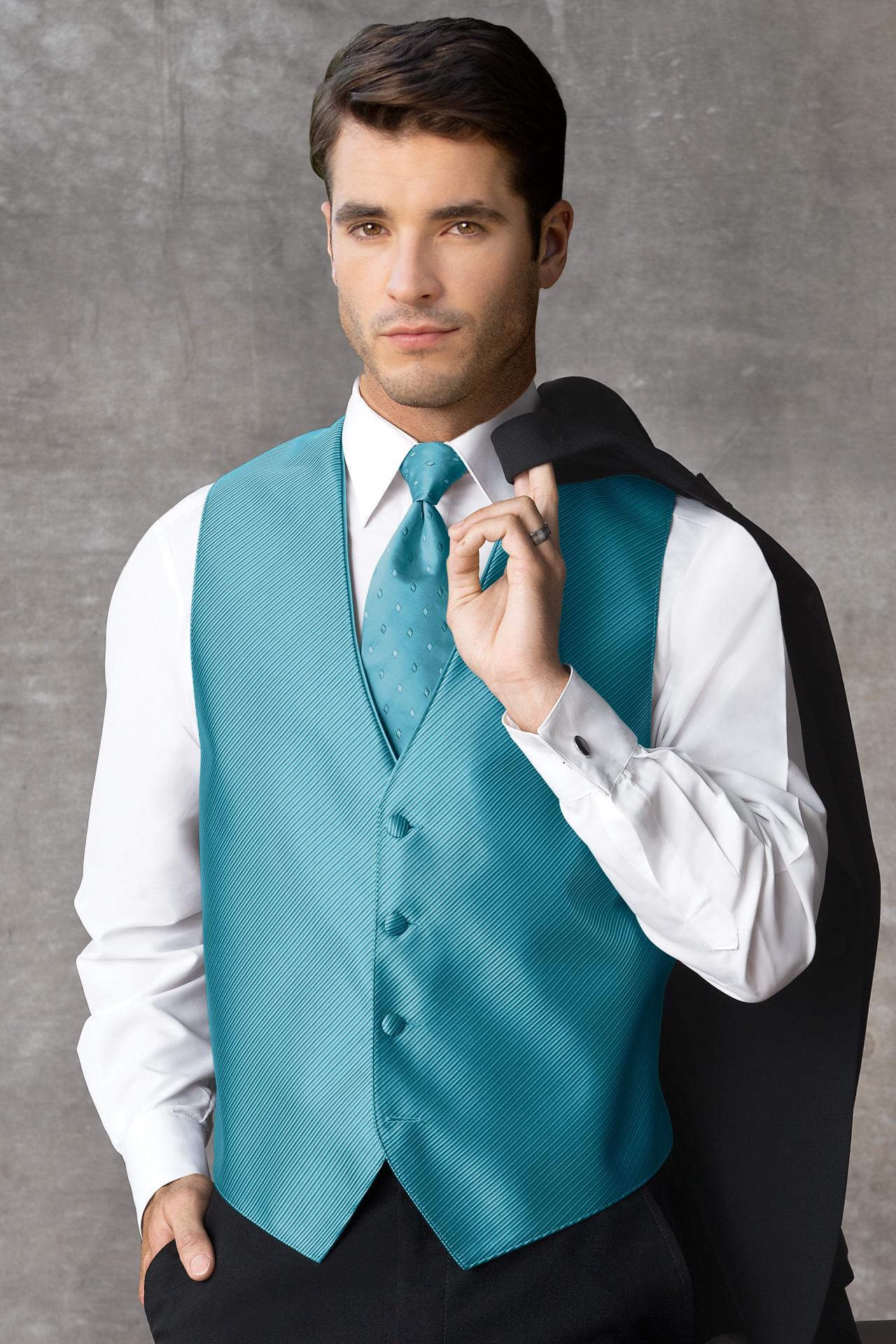 Synergy Dark Turquoise Vest   Jim\'s Formal Wear