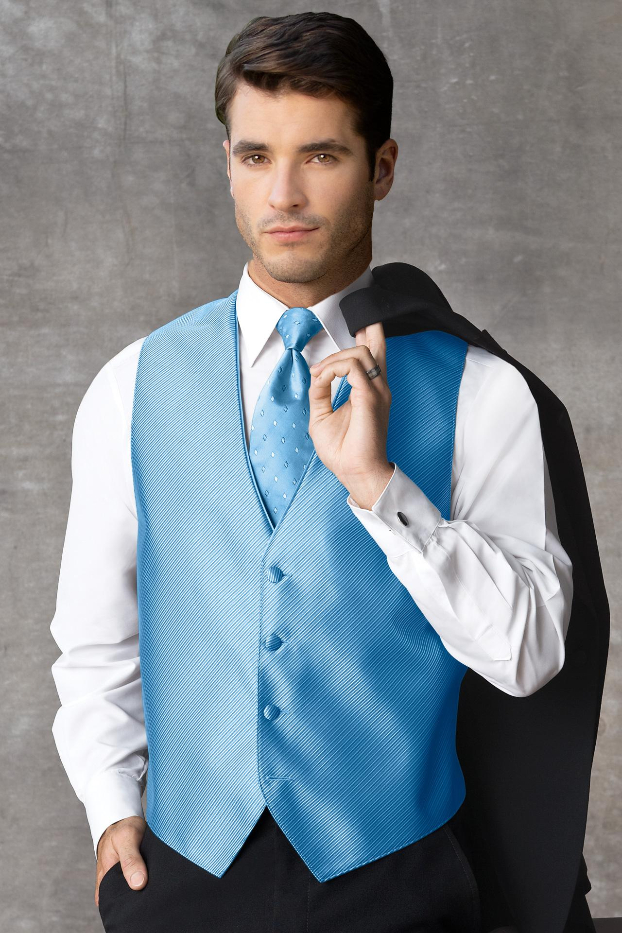 Synergy Ocean Blue Vest | Jim's Formal Wear