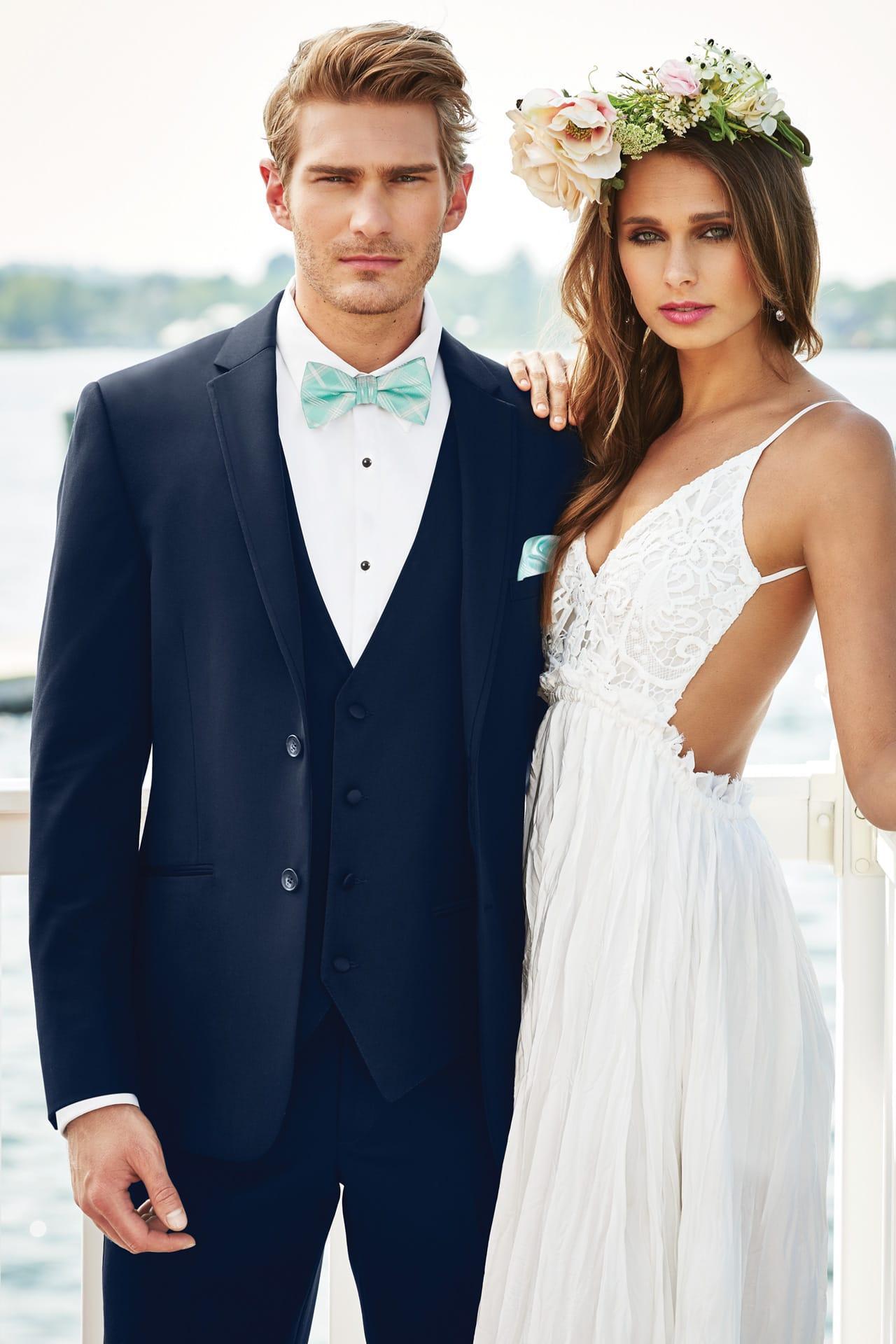 Michael Kors Navy Sterling Wedding Suit Slim Fit Suit | Jim\'s ...