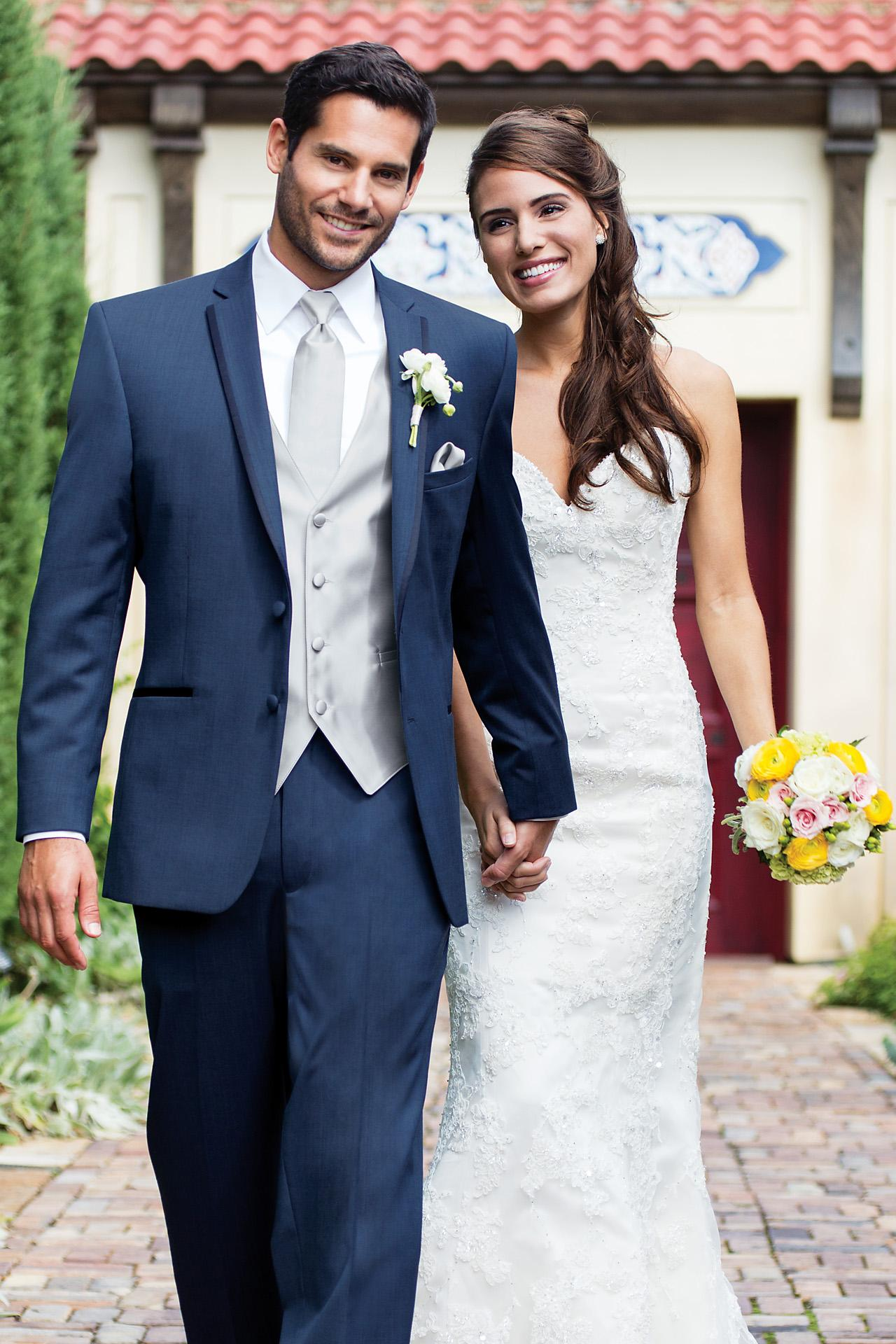slate blue burberry tuxedo slim fit aspen wedding tux