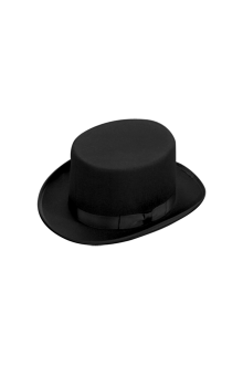 Top Hat Black Large Mens