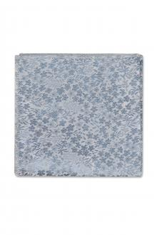 Dusty Blue Floral Pocket Square