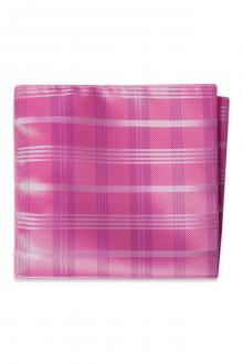 Begonia Plaid Pocket Square