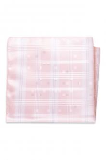Pink Plaid Pocket Square