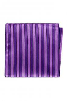 Purple Striped Pocket Square