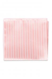 Tea Rose Striped Pocket Square