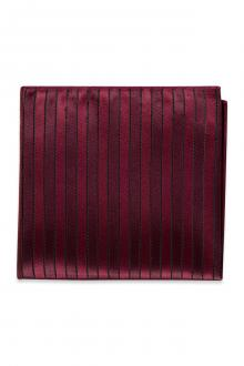 Wine Striped Pocket Square