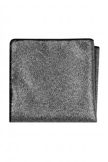 Expressions Silver Metallic Pocket Square