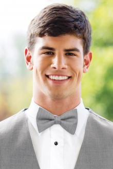 Matching Heather Grey Wool Bow Tie