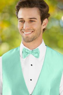 Herringbone Mint Bow Tie