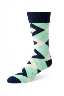 Mint Argyle Socks