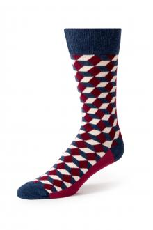 Wine Beeline Optical Socks