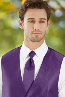 Solid Herringbone Purple Windsor