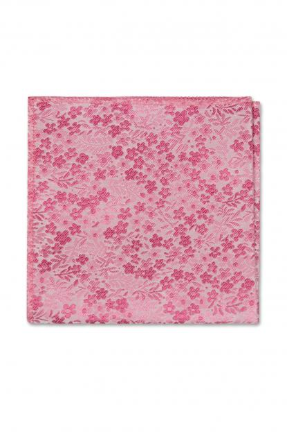 Bubblegum Pink Floral Pocket Square