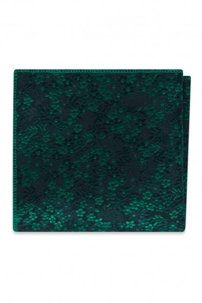 Emerald Floral Pocket Square