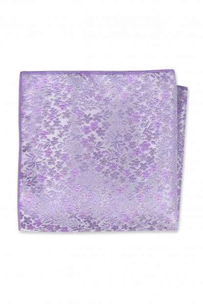 Lavender Floral Pocket Square