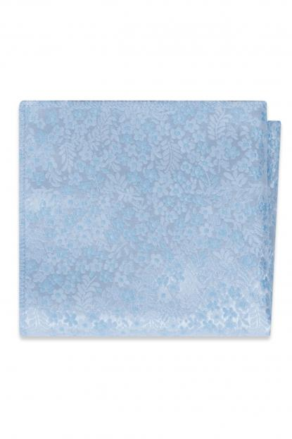 Lite Blue Floral Pocket Square