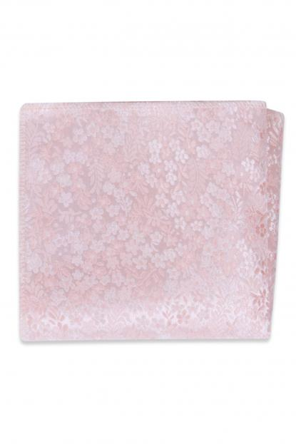 Pink Floral Pocket Square