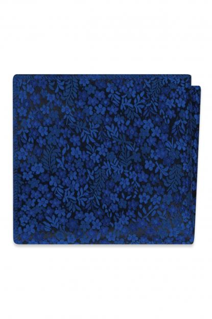 Royal Blue Floral Pocket Square