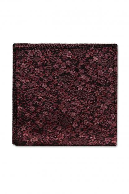 Rosewood Floral Pocket Square
