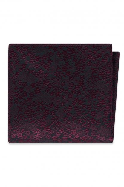 Wine Floral Pocket Square