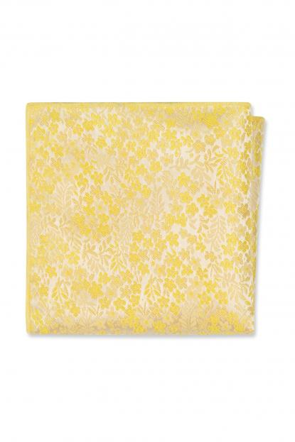 Yellow Floral Pocket Square