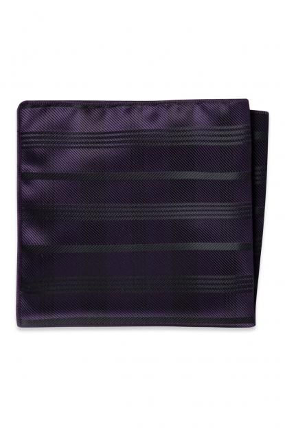 Eggplant Plaid Pocket Square