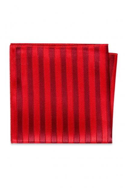 Ruby Striped Pocket Square