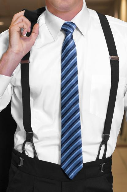 Suspenders Black Button-On