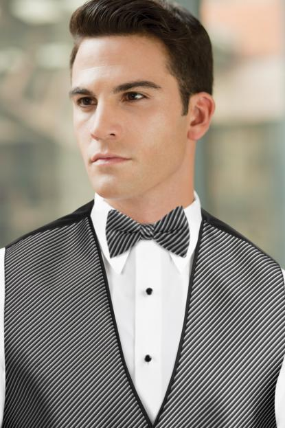 Synergy Black/White Bow Tie