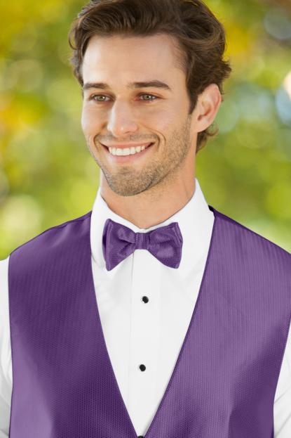Herringbone Purple Bow Tie