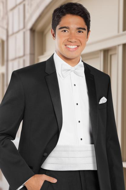 Dot White Cummerbund