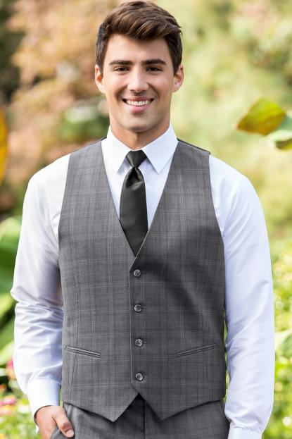 Grey Plaid Hamilton Vest