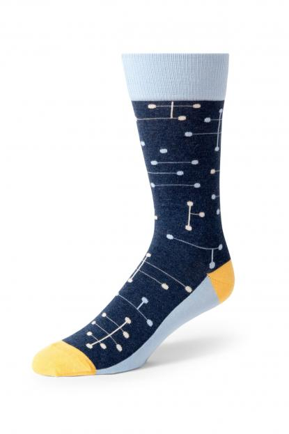 Blue Line Dot Socks