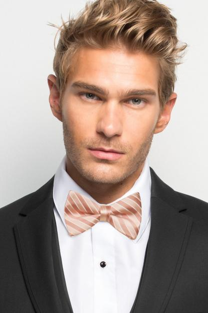 Bellini Striped Bow Tie