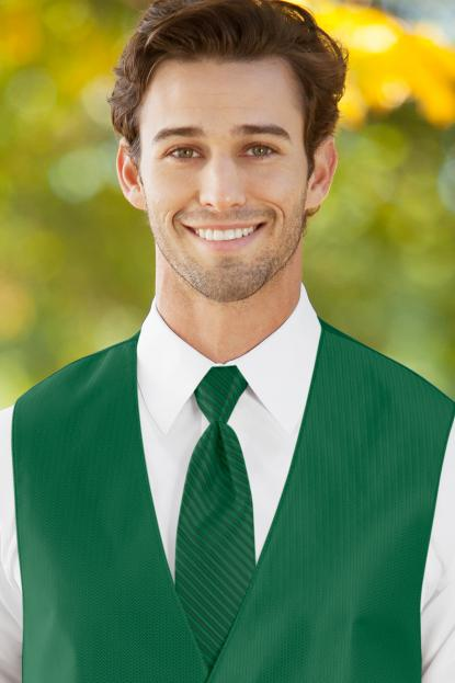 Striped Herringbone Emerald Green Windsor