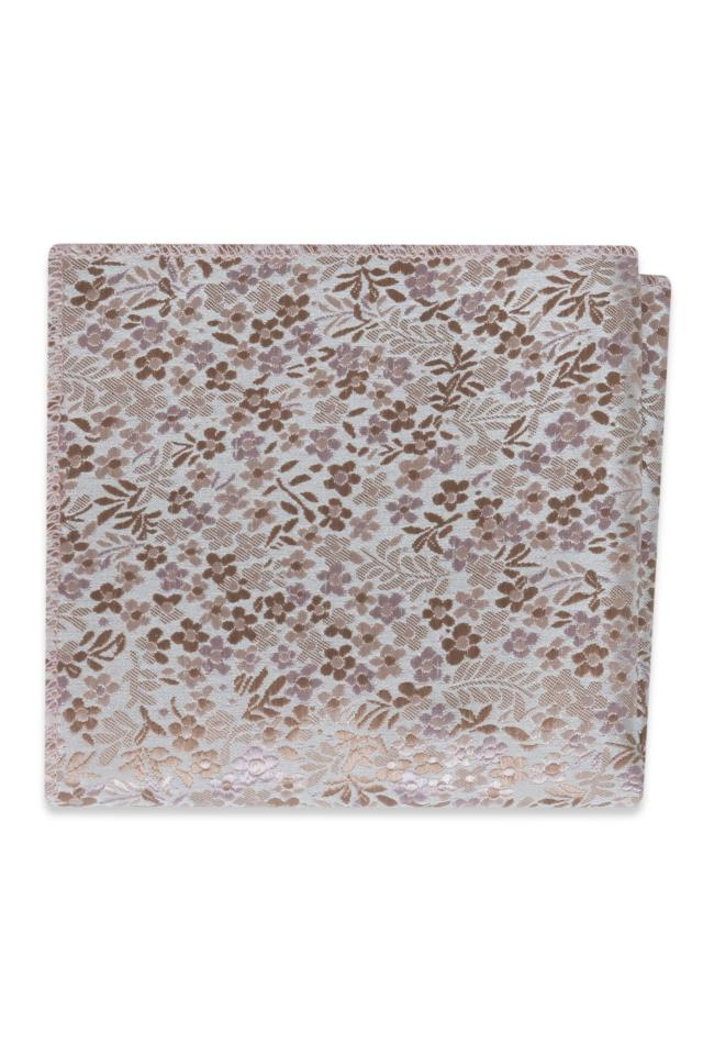 Rose Gold Floral Pocket Square