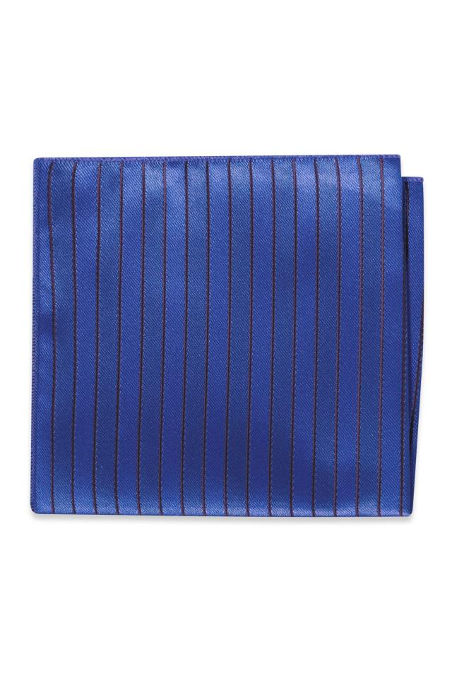 Cobalt Striped Pocket Square