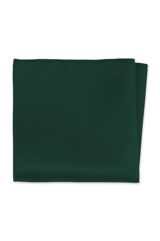 Expressions Hunter Green Pocket Square