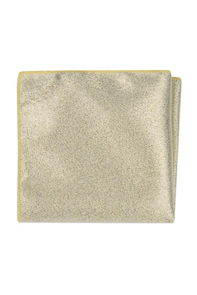Expressions Gold Metallic Pocket Square