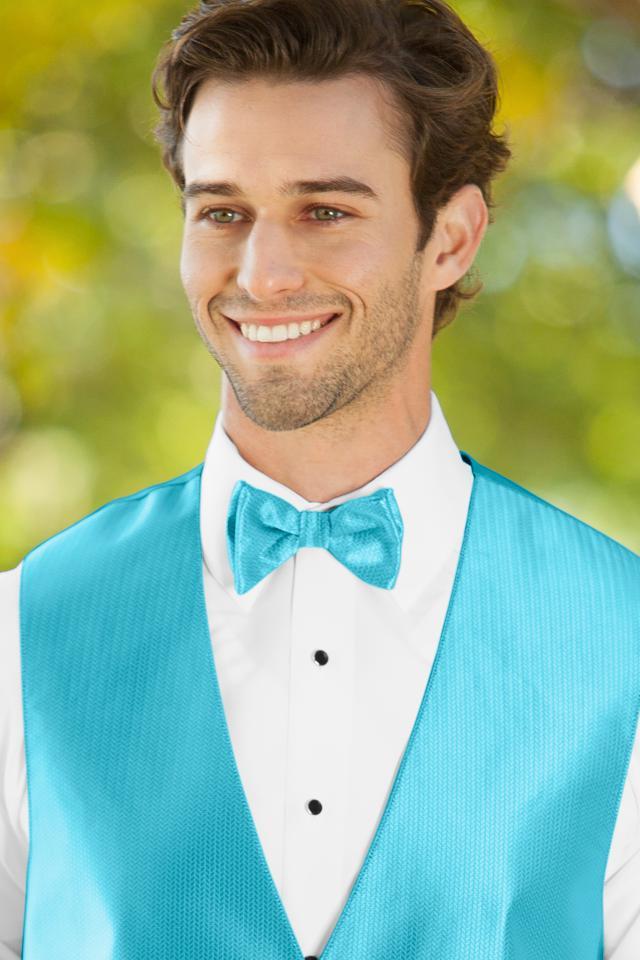 Herringbone Malibu Bow Tie   Jim\'s Formal Wear
