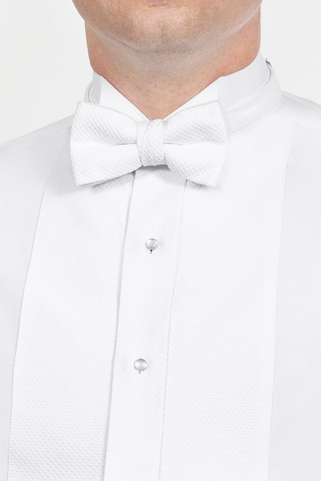 db0ead94bbd2 Classic White Pique Bow Tie | Jim's Formal Wear