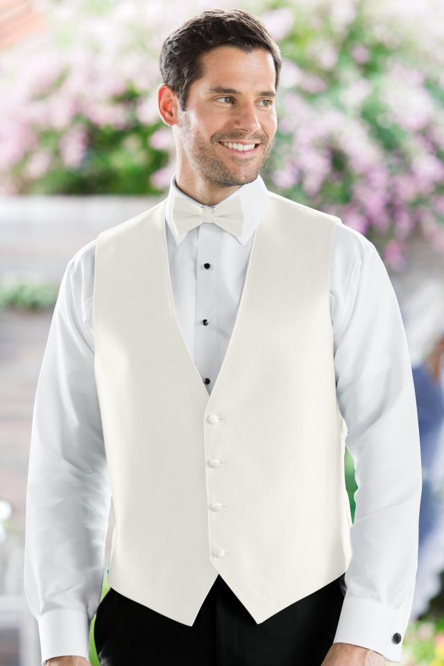 Herringbone Ivory Vest | Jim's Formal Wear