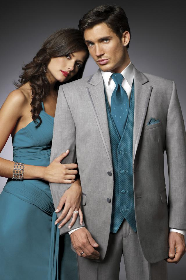 Jean Yves Heather Grey Savoy Slim Fit Tuxedo