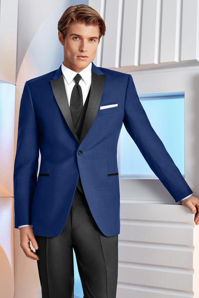 Ike Behar Ultra Slim Cobalt Blue Tribeca Ultra Slim Fit Tuxedo