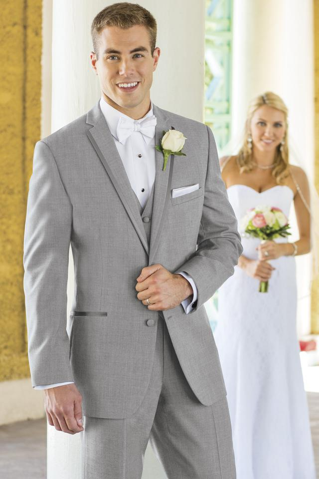 Stephen Geoffrey Heather Grey Aspen Slim Fit Tuxedo