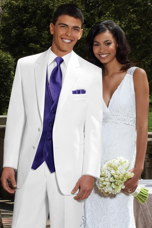 Stephen Geoffrey White Troy Modern Fit Tuxedo | Jim\'s Formal Wear