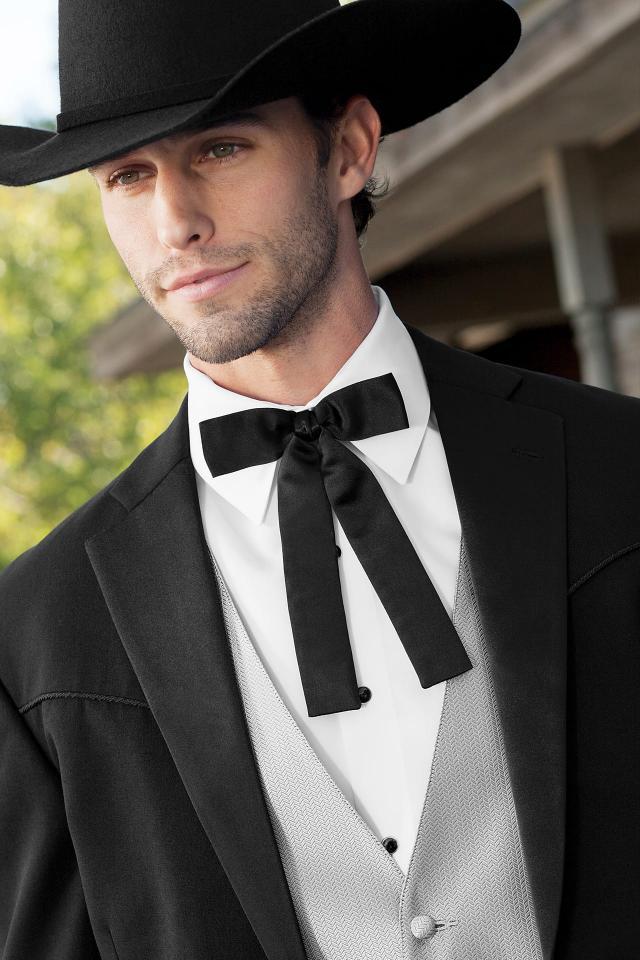 Western Black String Tie