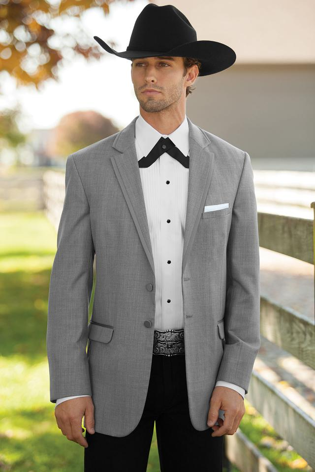 western tuxedo heather grey savoy 332 4 - Western Groomsmen Attire
